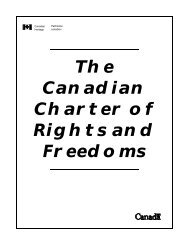 The Canadian Charter of Rights and Freedoms - Town of Stony Plain