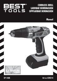 cordless drIll laddbar borrMasKIN oppladbar borMasKIN Manual