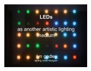 LEDs as Artistic Media 1 of 3 - Architectural SSL