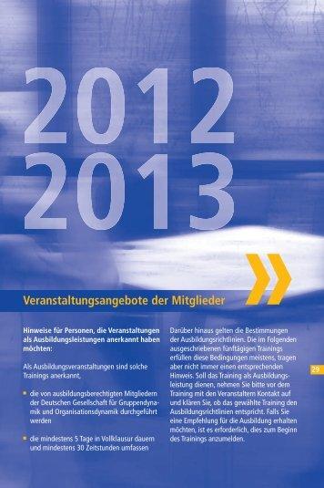 Veranstaltungsangebote der Mitglieder - Deutsche Gesellschaft für ...