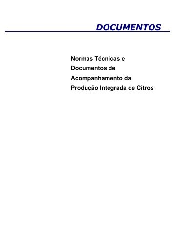 Normas Técnicas Específicas: NTE-Citros - Embrapa