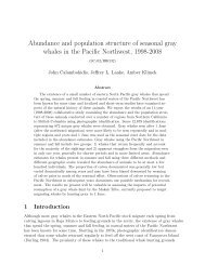 Abundance and population structure of seasonal gray whales in the ...
