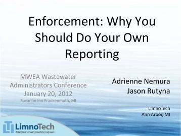 Enforcement: Why You Should Do Your Own Reporting