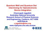 Quantum Well and Quantum Dot Intermixing for Optoelectronic ...