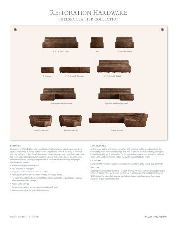 CHELSEA LEATHER COLLECTION - Restoration Hardware
