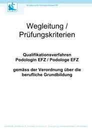 Wegleitung zum Qualifikationsverfahren - Schweizerischer ...