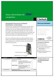 Nozzy Klemmleiste für Langdreher - Friedrich Britsch GmbH & Co. KG
