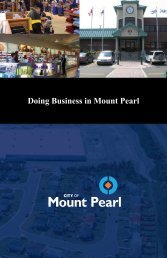 Business Guide - City of Mount Pearl