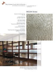 Download Product Data Sheet for MD204 Strata - Meltdown Glass