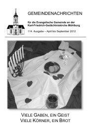 Konfirmation - Karl-Friedrich-Gemeinde