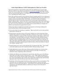 Swine-Origin Influenza A (H1N1) Information for Child Care Providers