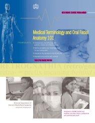 Medical Terminology and Oral Facial Anatomy 101 - American ...
