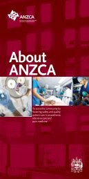 About ANZCA booklet - Australian and New Zealand College of ...