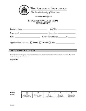 Non Exempt Performance Evaluation Form (RF) (PDF Version)