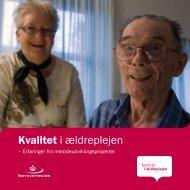 Kvalitet i ældreplejen - Socialstyrelsen