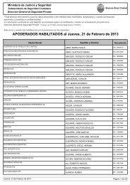 APODERADOS HABILITADOS al Jueves, 21 de Febrero de 2013