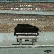 BRAHMS Piano Quartets 1 & 3 - Onyx Classics