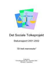 Det Sociale Tolkeprojekt - Socialstyrelsen