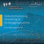 Dokumentation og forankring af forebyggelsescentre - Socialstyrelsen