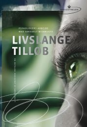 LIVSLANGE TILLØB - Socialstyrelsen