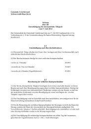 Satzung über die Entschädigung für ehrenamtliche Tätigkeit
