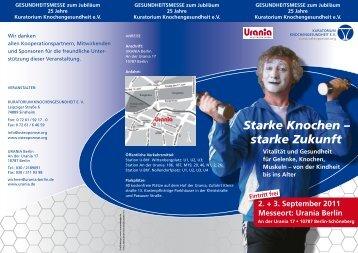 Starke Knochen – starke Zukunft - Rheuma-Tage-Berlin