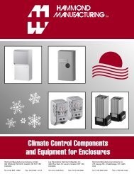 Climate Control Components and Equipment for ... - Hammond Mfg.