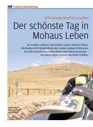 Bericht aus der Coopzeitung - SOS-Kinderdorf Schweiz