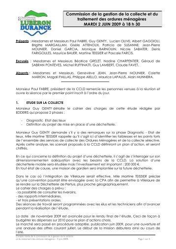 Commission de la gestion de la collecte et du traitement des ordures ...