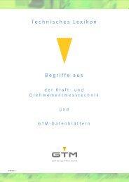 Technischen Lexikon - GTM GmbH