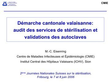 CMIE - Société Suisse de Stérilisation Hospitalière