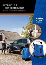 NEPTUNE 1 & 2 – HELT KOMPROMISLØS - Nilfisk-ALTO