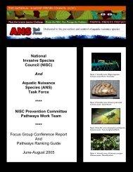 see Major Pathways Ranking Guide. - InvasiveSpecies.gov!