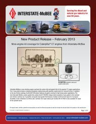 New Product Release – February 2013 - Interstate McBee