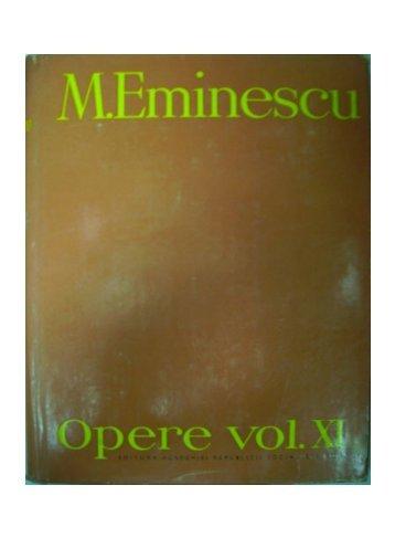 Mihai Eminescu, Opere vol XI, Publicistica