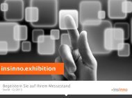 Die Lösung: insinno.exhibition – mehr als bloße Leaderfassung