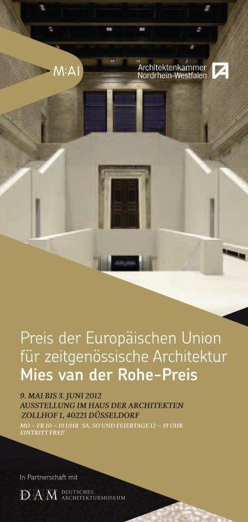 Preis der Europäischen Union für zeitgenössische Architektur ... - M:AI