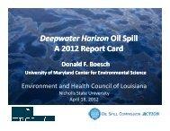 Deepwater Horizon Oil Spill A 2012 Report Card - Nicholls State ...