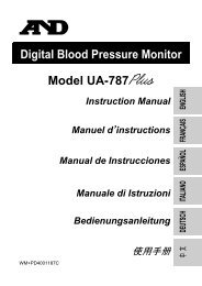 Digital Blood Pressure Monitor Model UA-787 Instruction Manual ...