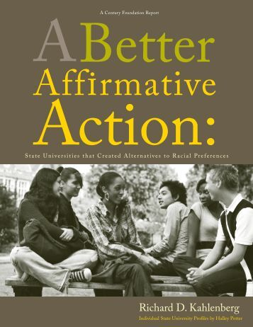 A Better Affirmative Action - The Century Foundation