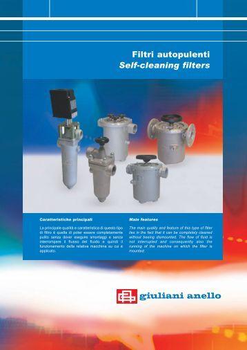 Filtri autopulenti - Self-cleaning filters - Watts Industries