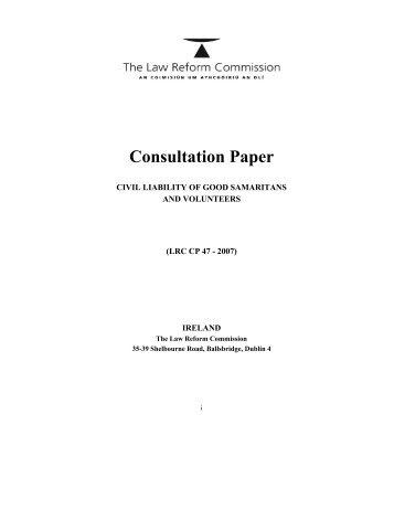Consultation Paper - Law Reform Commission