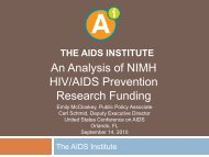 Analysis of NIMH HIV-AIDS Prevention ... - The AIDS Institute