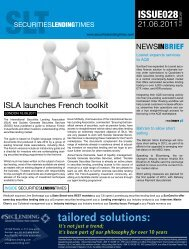 tailored solutions: - Securities Lending Times