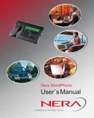 Nera WorldPhone User's Manual - GMPCS Personal ...