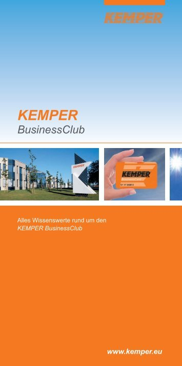 Wie funktioniert der KEMPER BusinessClub?