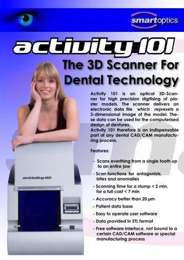 The 3D Scanner For Dental Technology