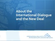 About the International Dialogue and the New Deal - GPPlatform