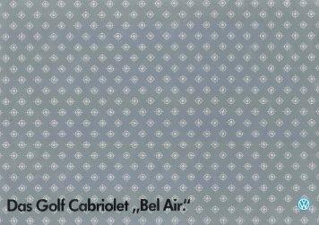 Page 1 Page 2 Page 3 Fahrspaß auf einen Blick. Das Golf Cabriolet ...