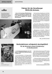 Fahnen für die Vorarlberger ÖKOLOG-Schulen ... - Bildung Leben